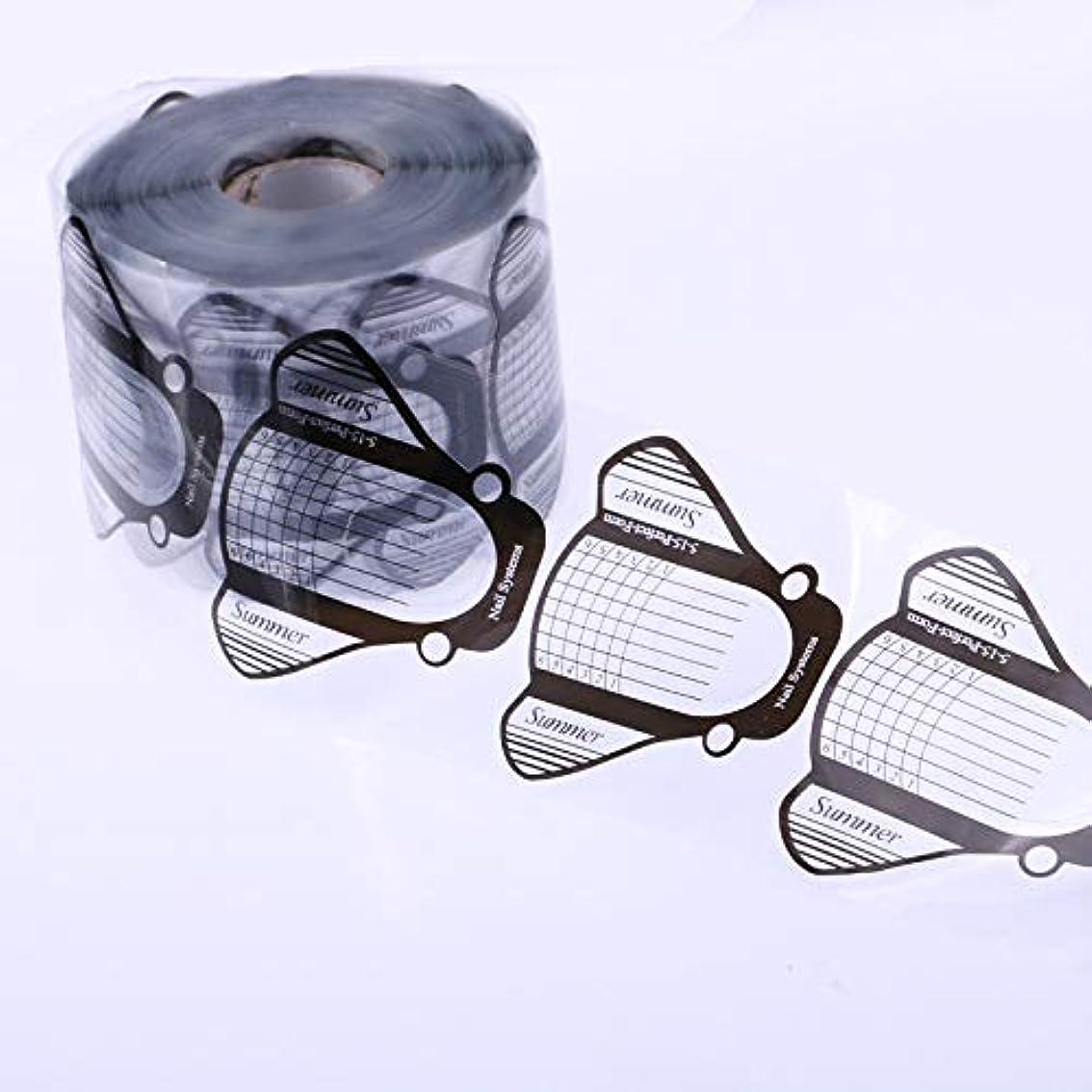 歩く制限する神秘的な100枚高品質激安フォームジェルネイルスカルプチャースカルプチュアネイルフォームアクリル用使いやすい