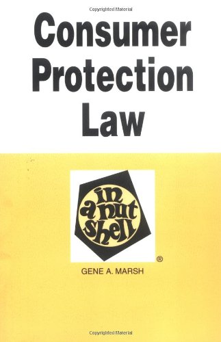 Download Consumer Protection Law in a Nutshell (Nutshell Series) 0314231684