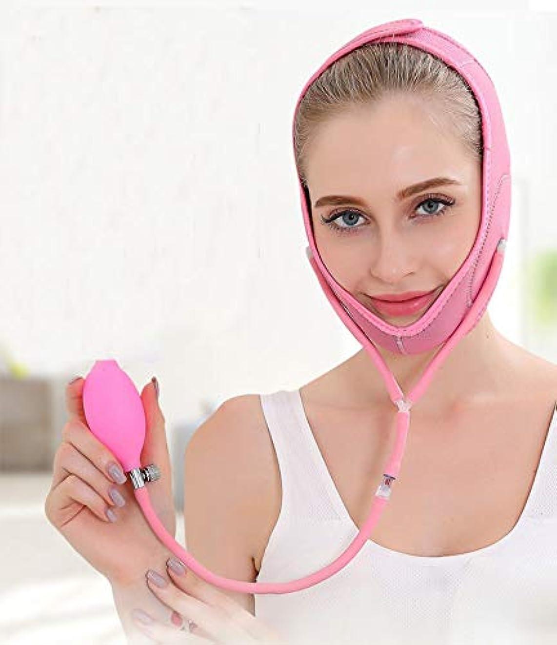 注ぎますセラー豚肉TAUKIYYフェイスリフティングインフレータブルマスクVフェイスエアバッグマスク小顔プラスチック空気圧睡眠ステッカーリフティングタイトフェイスバンデージ