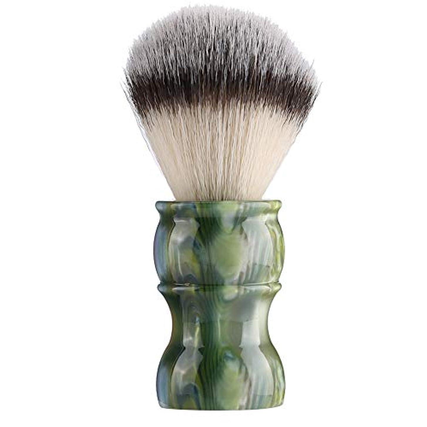 タッチ植生贅沢な専門の手動ひげの剃るブラシ、密集したナイロン毛のきれいな人の口ひげのブラシ家および旅行のための携帯用メンズひげのブラシ(#2)