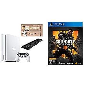 PlayStation 4 Pro グレイシャー・ホワイト 1TB(Amazon限定特典付) + 【PS4】コール オブ デューティ ブラックオプス 4(Amazon限定特典付)【CEROレーティング「Z」】 セット