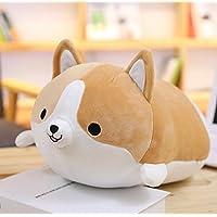 HuaQingPiJu-JP コーギー犬のぬいぐるみぬいぐるみぬいぐるみぬいぐるみ35cm(ブラウン)