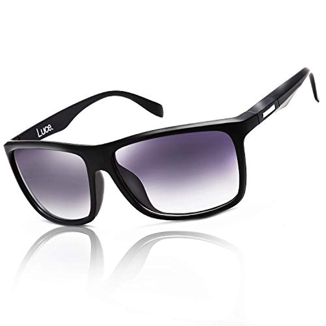 二層ボンド遠征Luce.サングラス スポーツ 偏光レンズ UV 400 カット 紫外線 6カラー ランニング ドライブ 釣り 専用BOX付