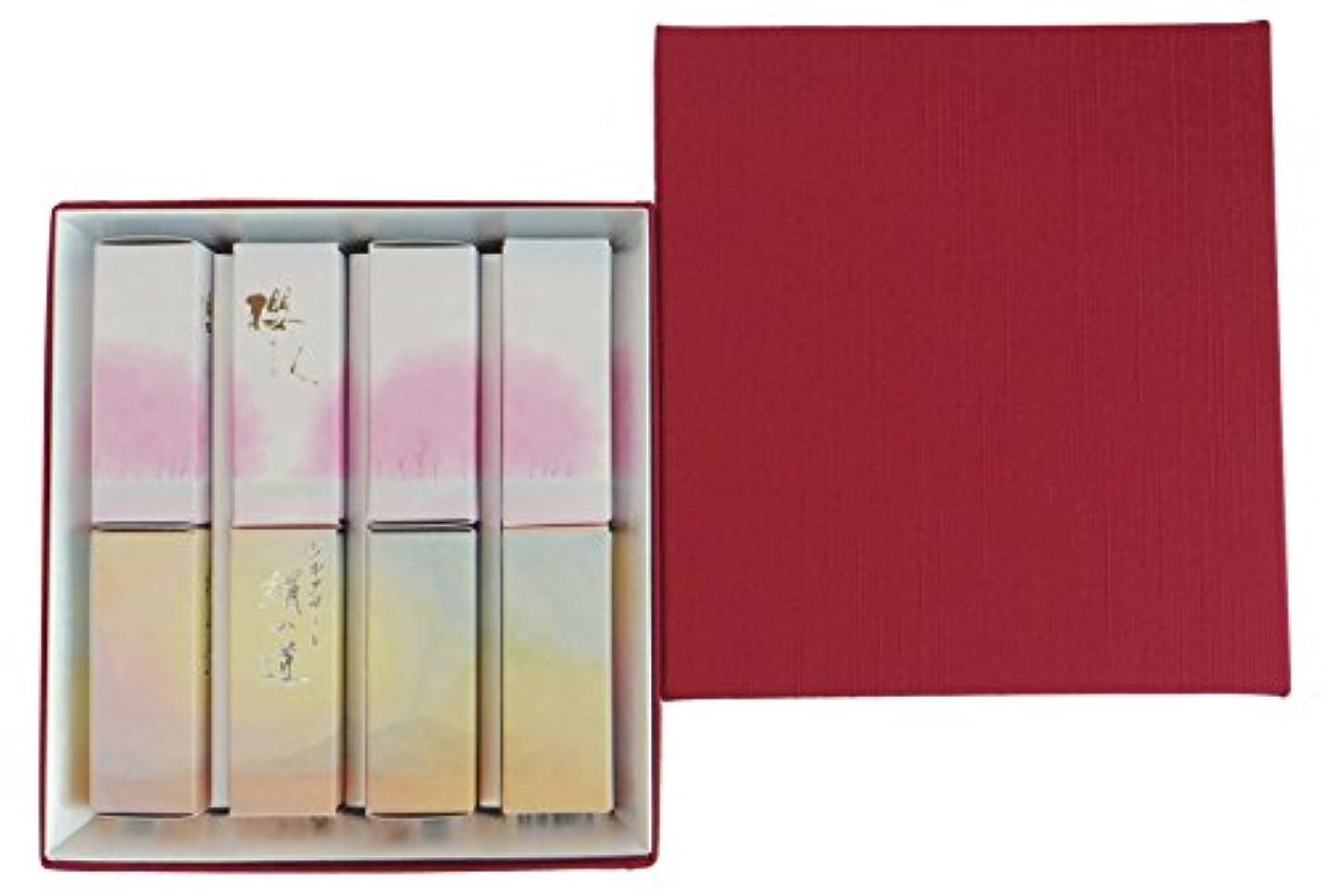 絶壁練習した含む丸叶むらたのお香 ハーフ寸ギフト 2種B(櫻人4箱?絹の道4箱)アソート #2-B