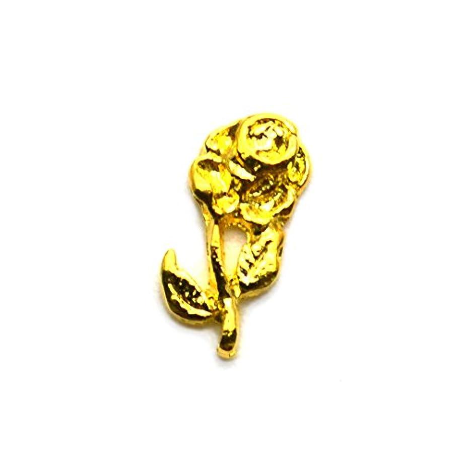 憂鬱基本的な統治可能ローズメタルパーツ / Type1 【ゴールド】5個入り