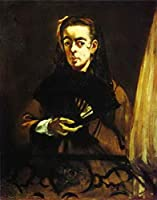 手描き-キャンバスの油絵 - Angelina Eduard Manet 芸術 作品 洋画 ウォールアートデコレーション -サイズ07