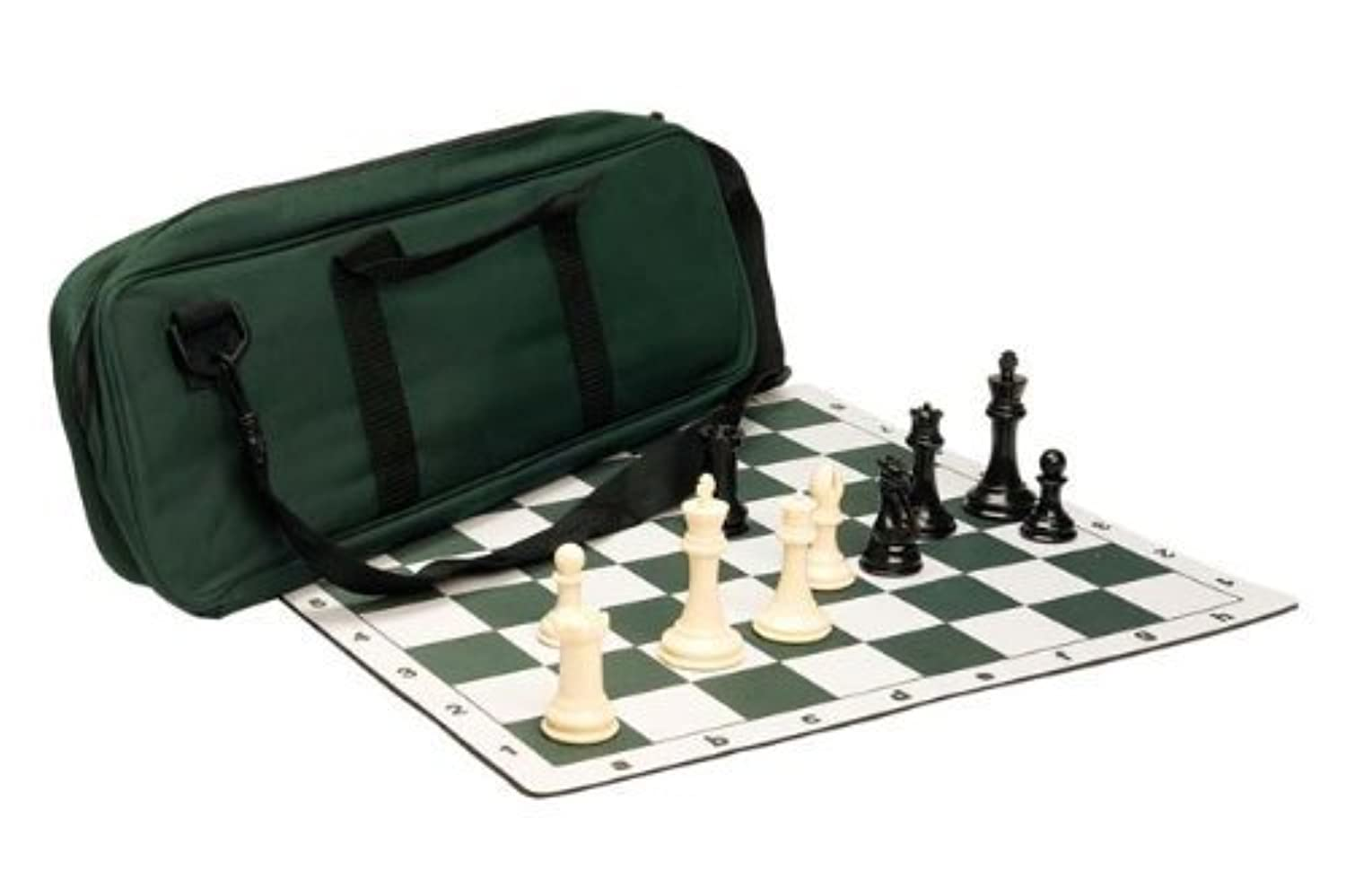Premium Chess Set Combo - Plastic Chess Pieces | Tournament Chess Board | Deluxe Chess Bag by