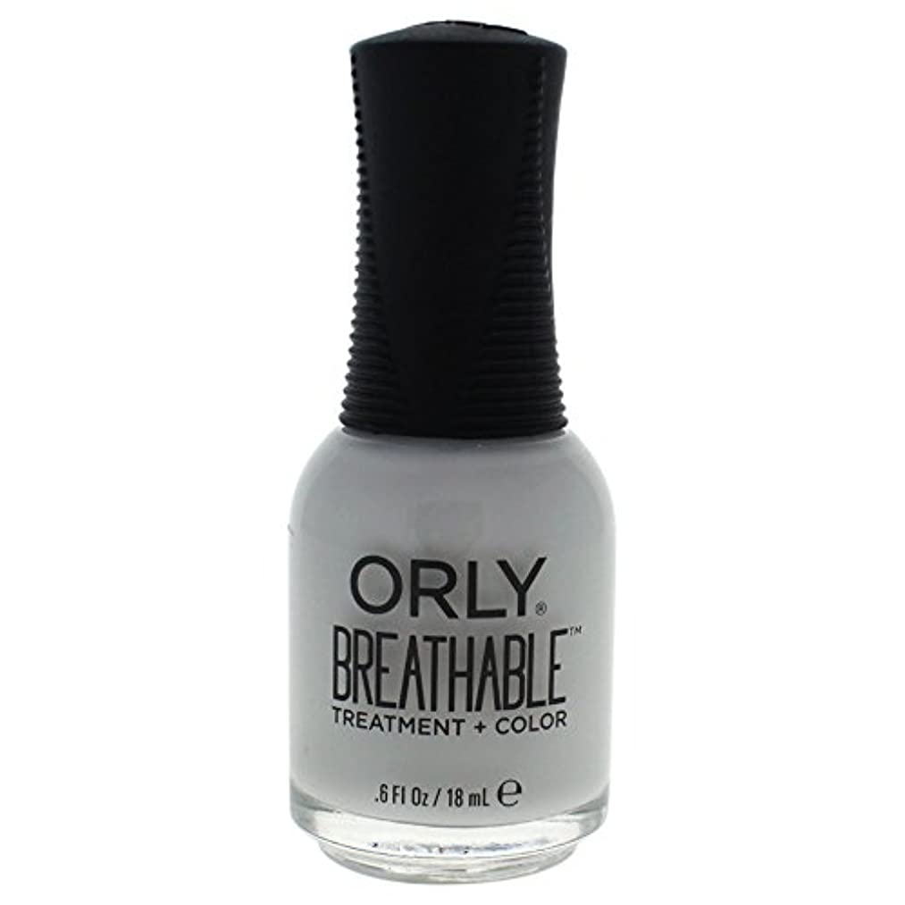 リーダーシップ解くスペアOrly Breathable Treatment + Color Nail Lacquer - Power Packed - 0.6oz / 18ml