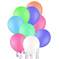 風船 鮮やか 100個セット Zubita バルーン 弾力2倍 高品質 キラキラ 誕生日 結婚式お祝い パーティー装飾 25センチ