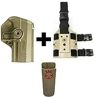 IMI Defense z1425360°回転ホルスターWalther PPX、タン+ z2200ドロップ脚アタッチメントリグ+ Ultimate Arms Gear Magazine Magツールベルトクリップポーチホルダー