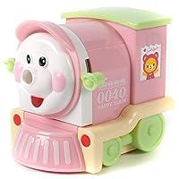 楽しい豚くん列車の鉛筆削り 全3色 (ピンク) [並行輸入品]