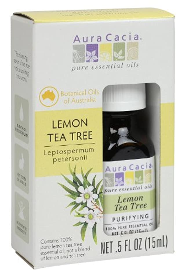 ちなみに舌言い訳海外直送品Aura Cacia Tea Tree Essential Oil, Lemon 0.5 Oz
