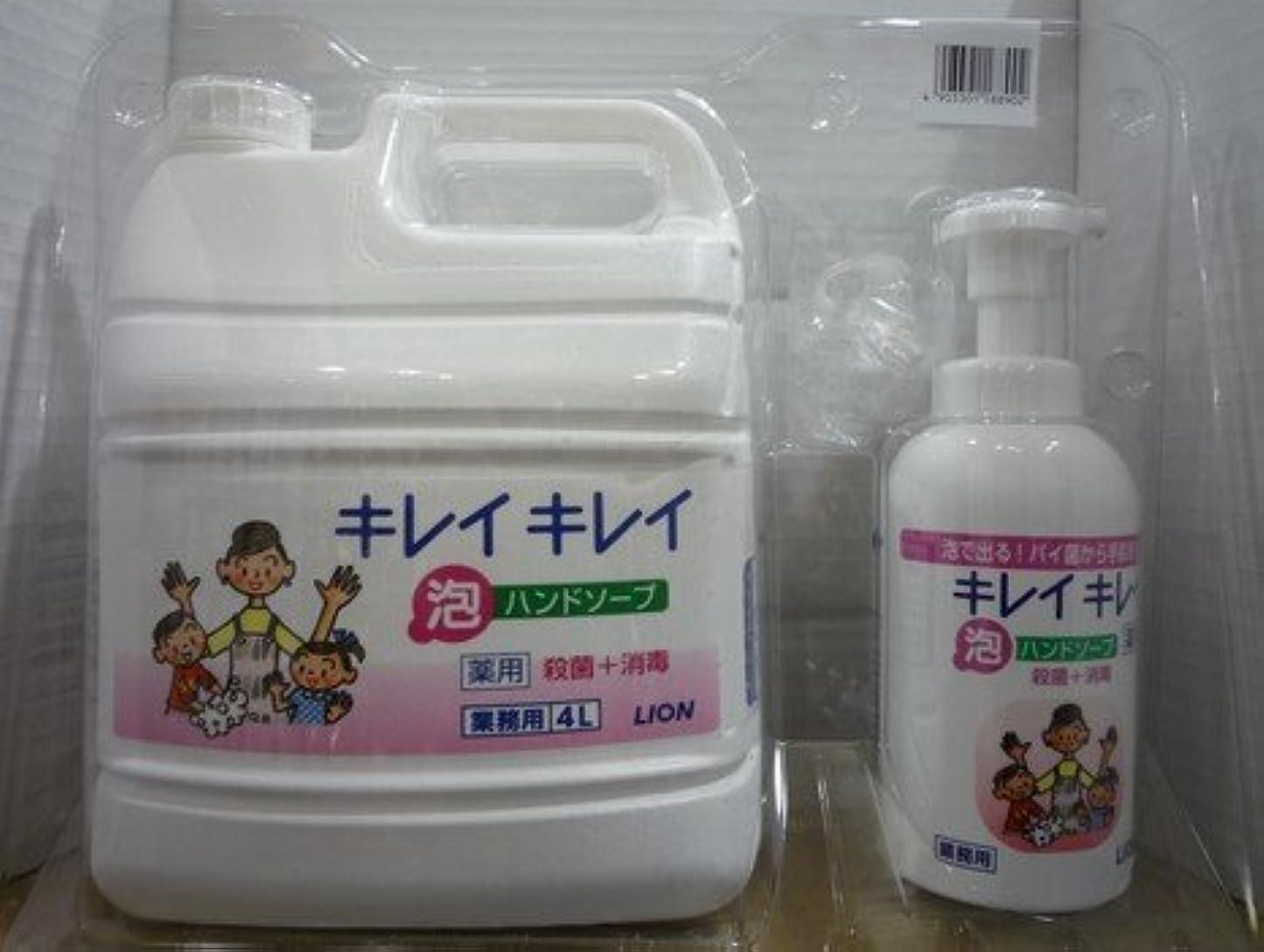 食い違い寛大な練習したキレイキレイ 薬用泡ハンドソープ 業務用 4L+キレイキレイ 薬用泡ハンドソープボトル550ml