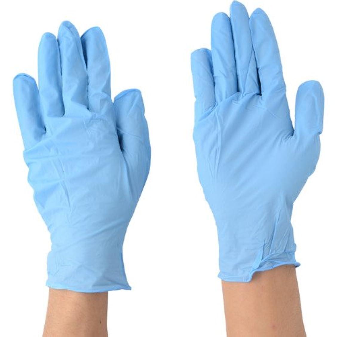 お茶ラリー剪断川西工業 ニトリル 極薄手袋 ストロング 粉なし 100枚入 #2037 ブルー SS
