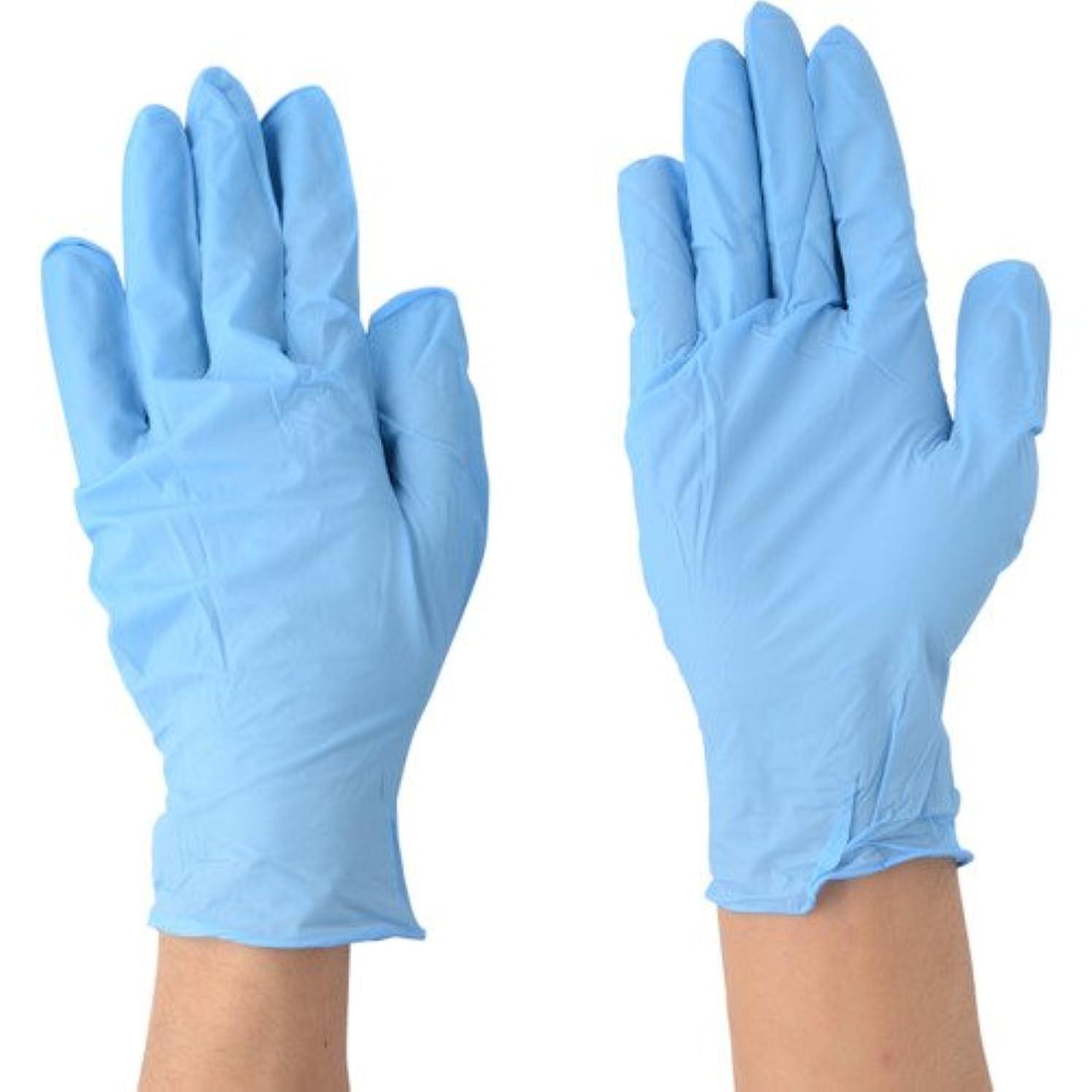集中的な旅客完全に乾く川西工業 ニトリル 極薄手袋 ストロング 粉なし 100枚入 #2037 ブルー SS