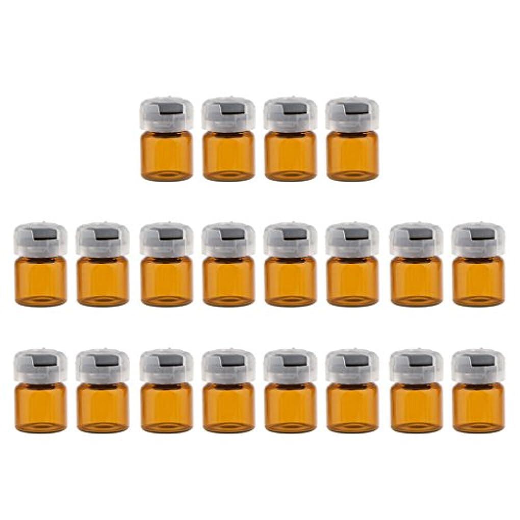 激しい信者脊椎Kesoto 約20個 空 バイアル 密封 滅菌バイアル ガラス 液体容器 3サイズ選べる - 3ml