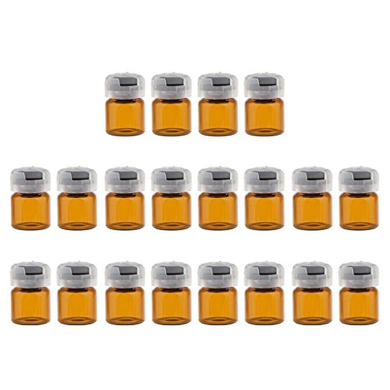 再集計外交官謝るKesoto 約20個 空 バイアル 密封 滅菌バイアル ガラス 液体容器 3サイズ選べる - 3ml