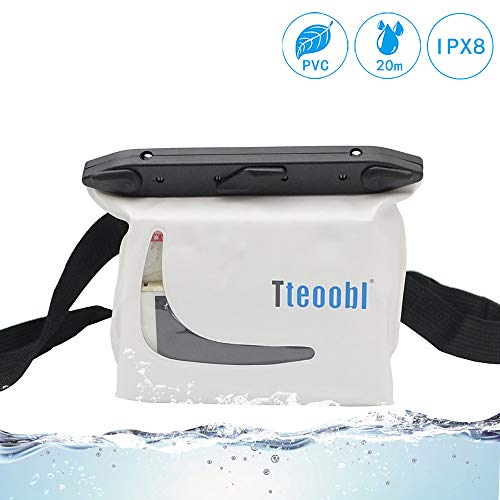 Mercs Tteoobl 防水バッグ 100% 完全防水 軽量 Sサイズ ウエストバッグ 防水保護等級IPX8 海水浴 川遊び プール トラベル アウトドア 防災 必需品 (ホワイト)