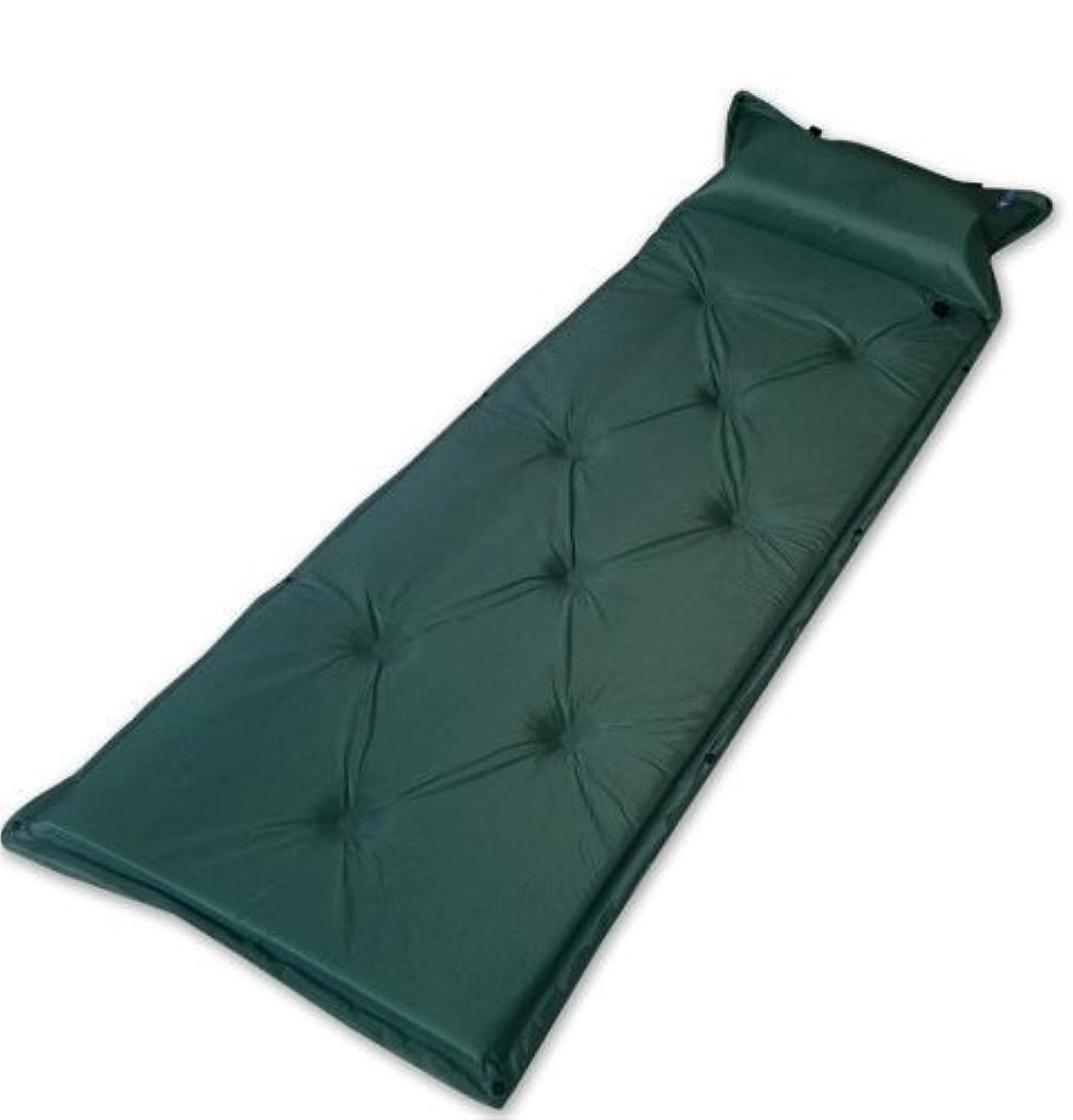 テクスチャー神秘長くするmitefデフクラブパッドキャンプパッドwith Attachedインフレータブル枕、枕のSleepingマット