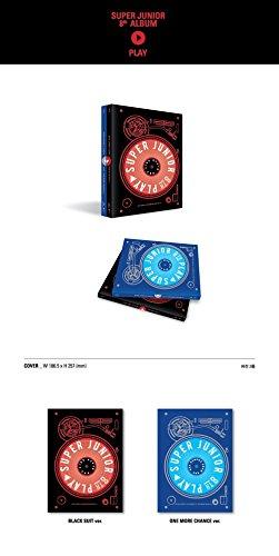 スーパージュニア - PLAY [Black Suit ver.] (Vol.8) CD+Booklet+Folded Poster [KPOP MARKET特典: 追加特典フォトカード] [韓国盤]