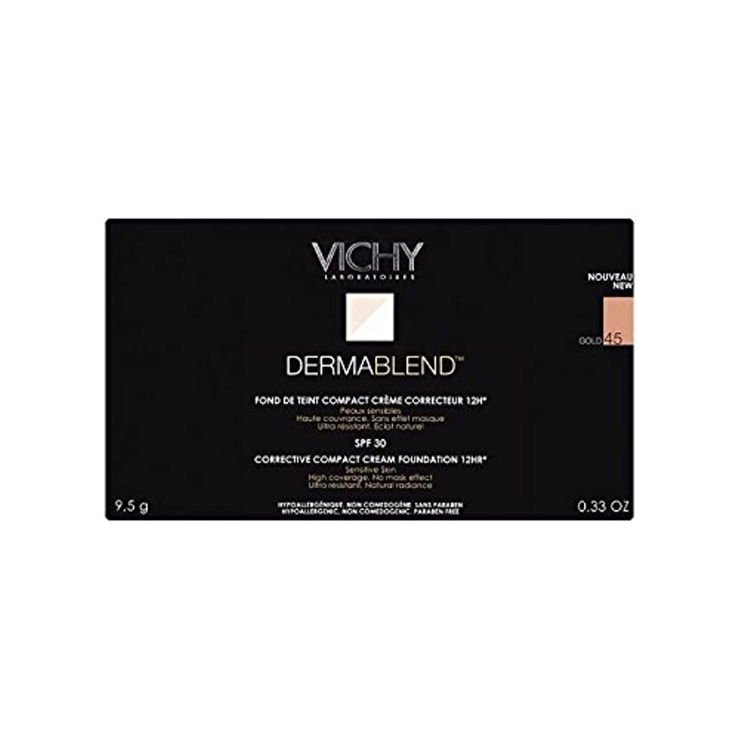 抜本的な歯科の一見ヴィシー是正コンパクトクリームファンデーション金45 x2 - Vichy Dermablend Corrective Compact Cream Foundation Gold 45 (Pack of 2) [並行輸入品]