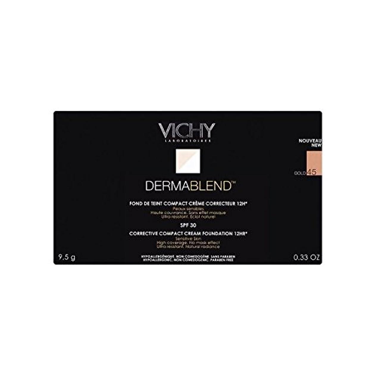 レッドデート群衆特異性ヴィシー是正コンパクトクリームファンデーション金45 x2 - Vichy Dermablend Corrective Compact Cream Foundation Gold 45 (Pack of 2) [並行輸入品]