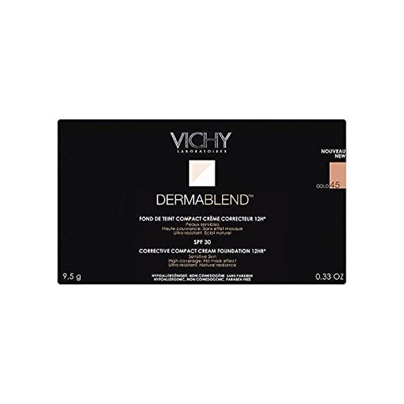 勇敢な世界憧れヴィシー是正コンパクトクリームファンデーション金45 x2 - Vichy Dermablend Corrective Compact Cream Foundation Gold 45 (Pack of 2) [並行輸入品]