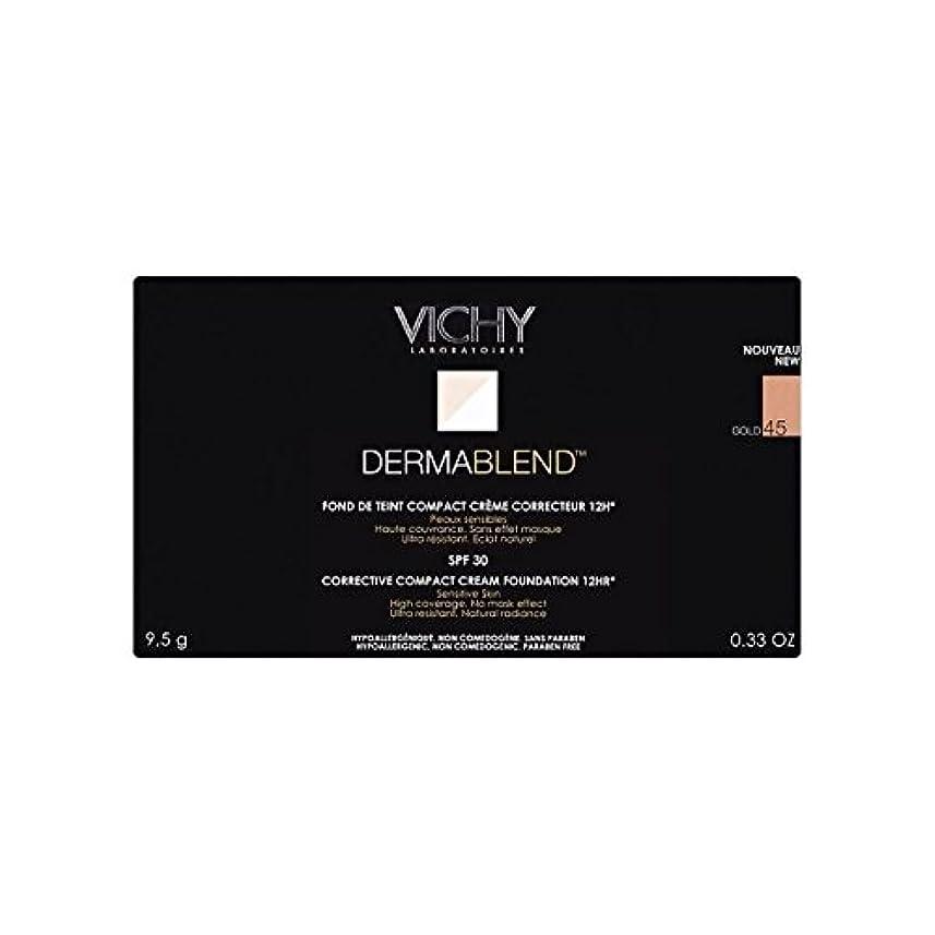グローブ保険ライオネルグリーンストリートヴィシー是正コンパクトクリームファンデーション金45 x4 - Vichy Dermablend Corrective Compact Cream Foundation Gold 45 (Pack of 4) [並行輸入品]