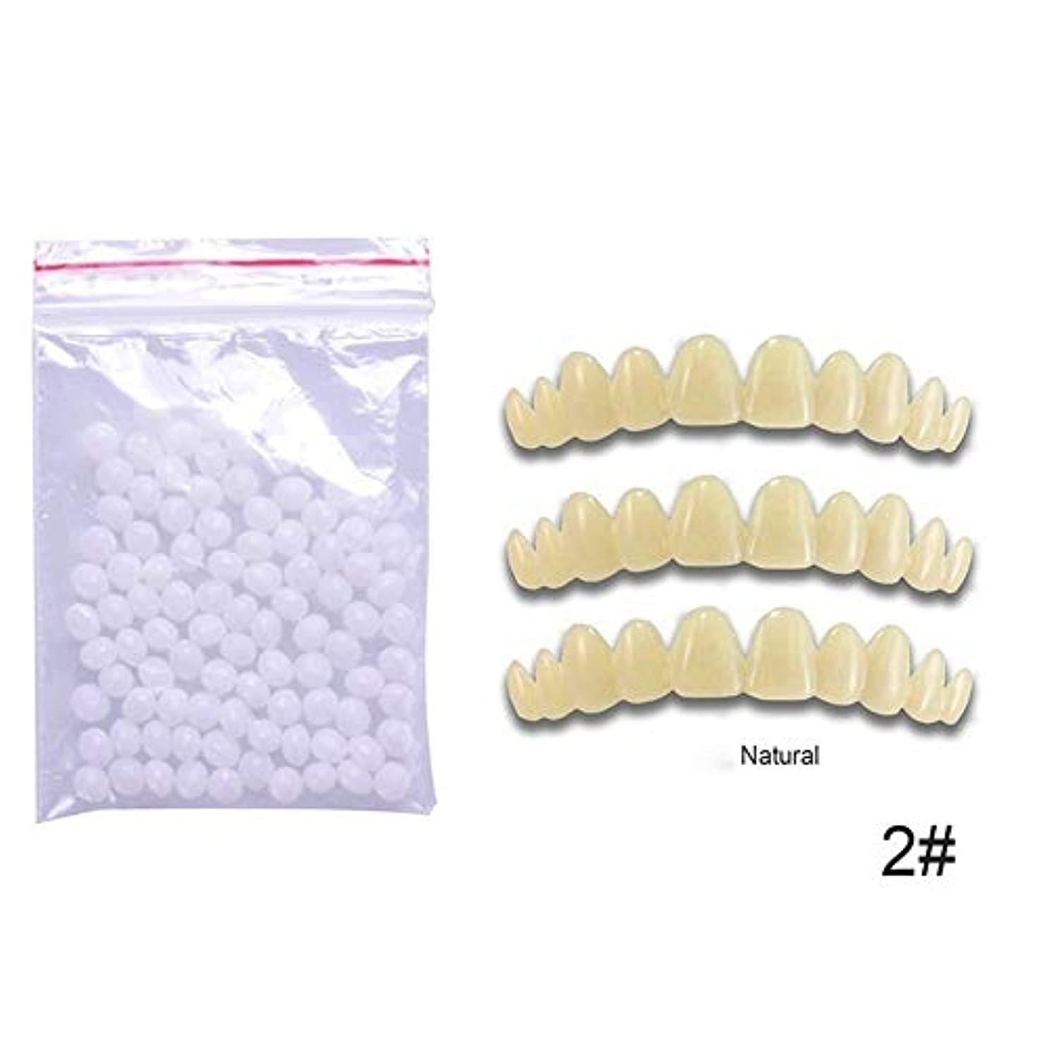実験移動する船尾5一時的な歯の色合い1pcs 切断可能な義歯セット含まれています1バッグビーズ交換のためのパーフェクトスマイルナチュラルホワイトダーク,Natural5PCS