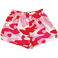 iscream Big Girls Silky Soft Plush Fleece Shorts - Love Fest Collection
