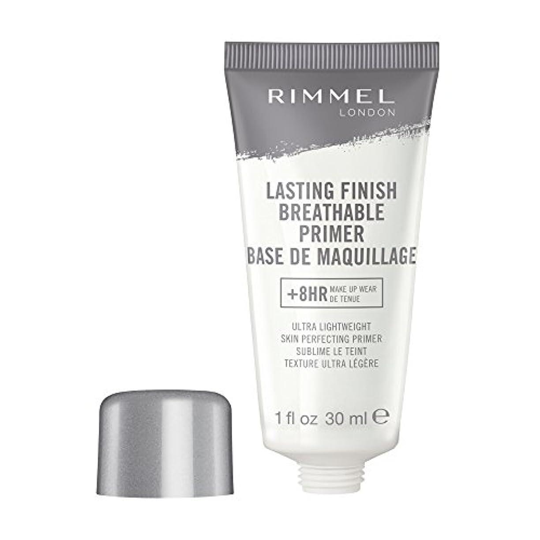 オーバーヘッド欲求不満移動RIMMEL LONDON Lasting Finish Breathable Primer - Transparent (並行輸入品)