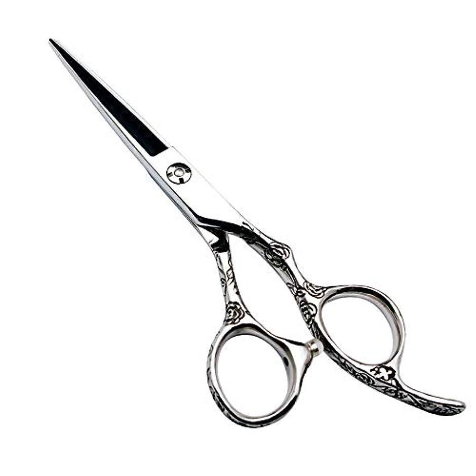 じゃがいも視線効率的に6インチの美容院の専門の理髪セットの理髪はさみ、440Cローズのハンドル ヘアケア (色 : Silver)