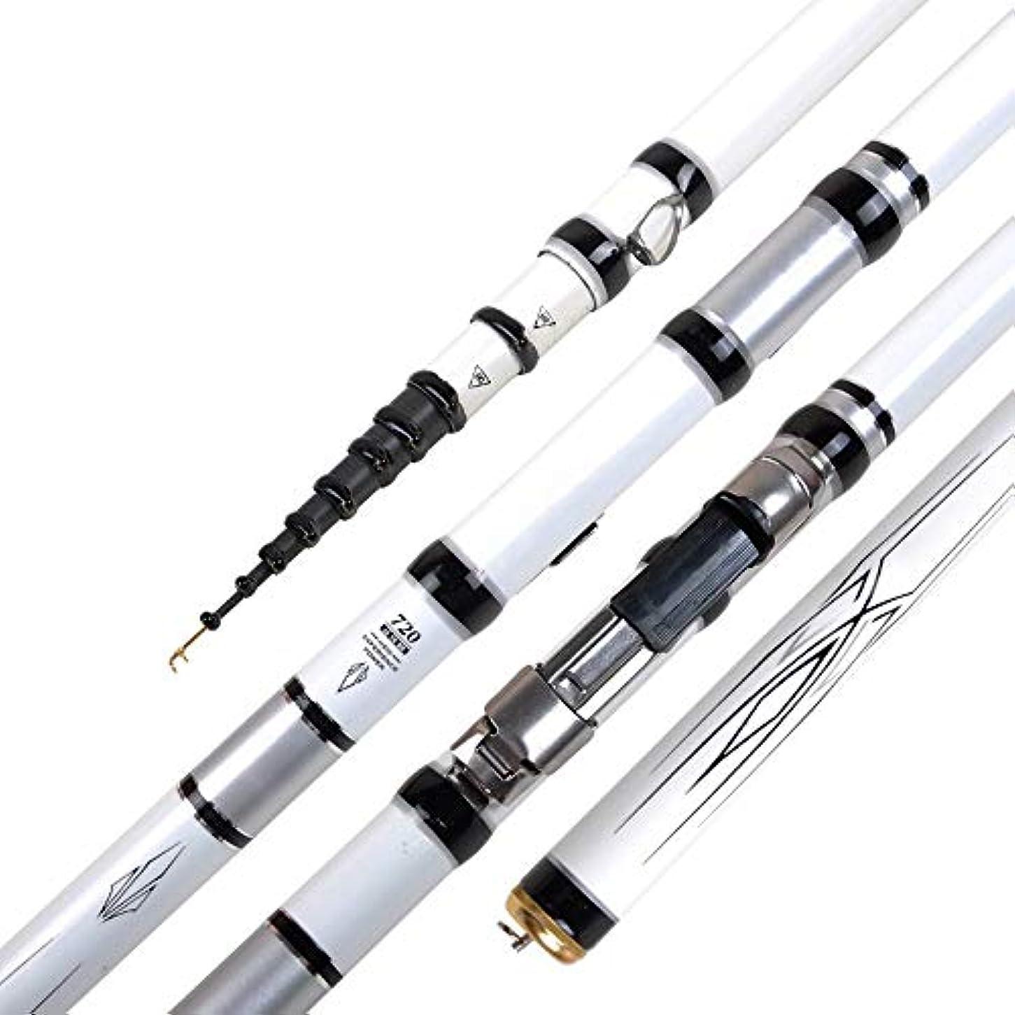 マンハッタンサンプルのためにBTXXYJP 釣り竿 釣りロッド 軽量 初心者 釣り 超強力 操作簡単 伸縮可能 フィッシングロッド (Color : 白, Size : 5.4)