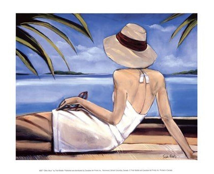距離衛星学士Cote D ' Azur by Trish Biddle – 11.75 X 9.5インチ – アートプリントポスター LE_57851