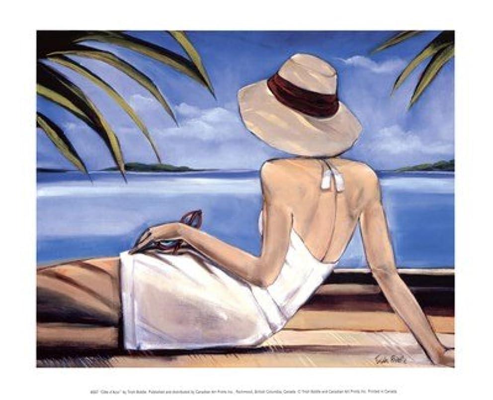 ハンカチ聖なる調和のとれたCote D ' Azur by Trish Biddle – 11.75 X 9.5インチ – アートプリントポスター LE_57851