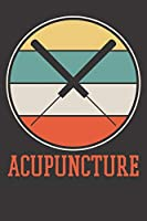 Acupuncture Notebook: Acupunture Retro Gift 6x9 Dot Grid Dotted 120 Pages for School College