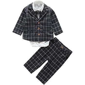 8b813e063ef22 Cloudkids ベビー服 フォーマル スーツ 長袖 シャツ ジャケット ズボン 3点セット 正装 子供服 赤ちゃん 男の子