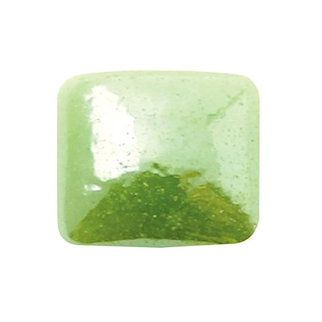 城過半数透明にグラスパールスクエア 4x4mm(各30個) グリーン