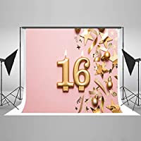 Kate 10x10フィート Happy 16th Birthday 背景 星 キャンドル マイクロジバー 写真 背景