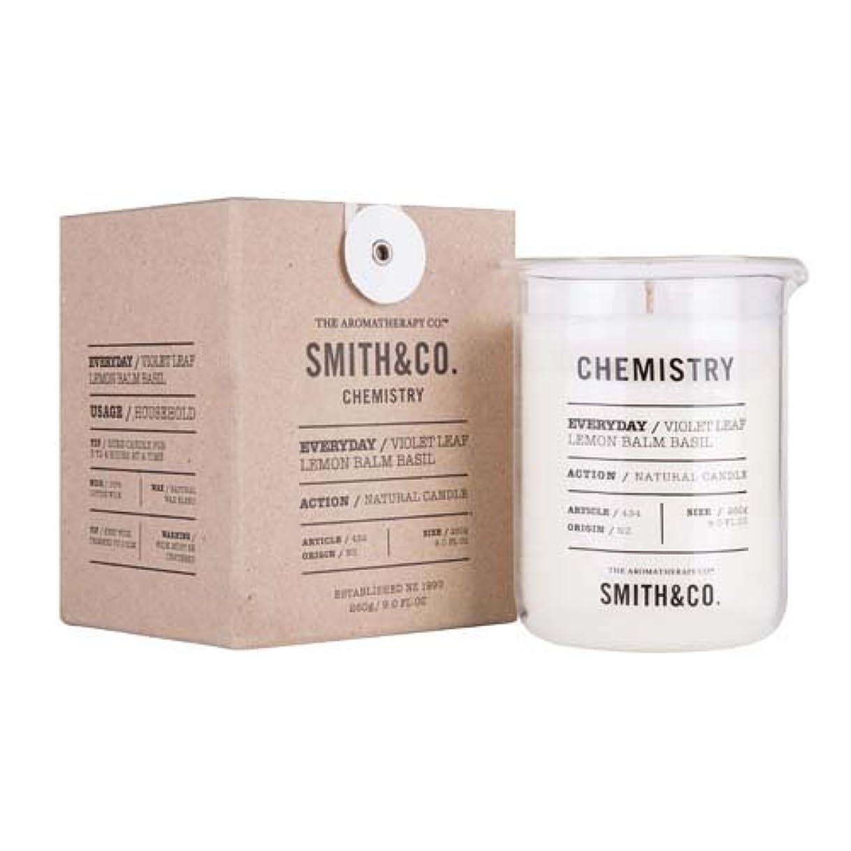 パートナーうめき声解放するSmith&Co. Chemistry Candle ケミストリーキャンドル Violet Leaf Lemon Barm Basil