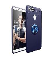 Happon Huawei Honor 7X シェル, スクラッチ耐性, 耐衝撃性 バックケース, 素晴らしい グリップ シェル ウルトラ 薄いです and スリム バック シェル Carry シェル シリーズ-Blue