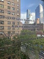 XRP バンパーステッカー 十字架 デカール ビニール クリプト 車 トラック バン 壁 ノートパソコン カップ 4個セット