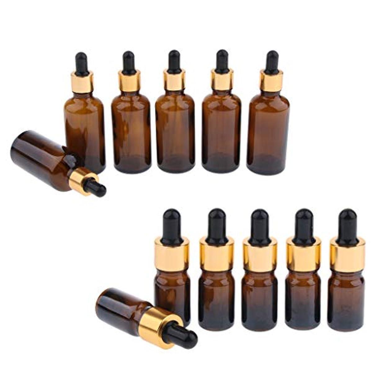 丈夫に応じてハンディアロマオイル 精油 小分け用 ドロッパーボトル エッセンシャルオイル 液体 保存 詰替え 12個入