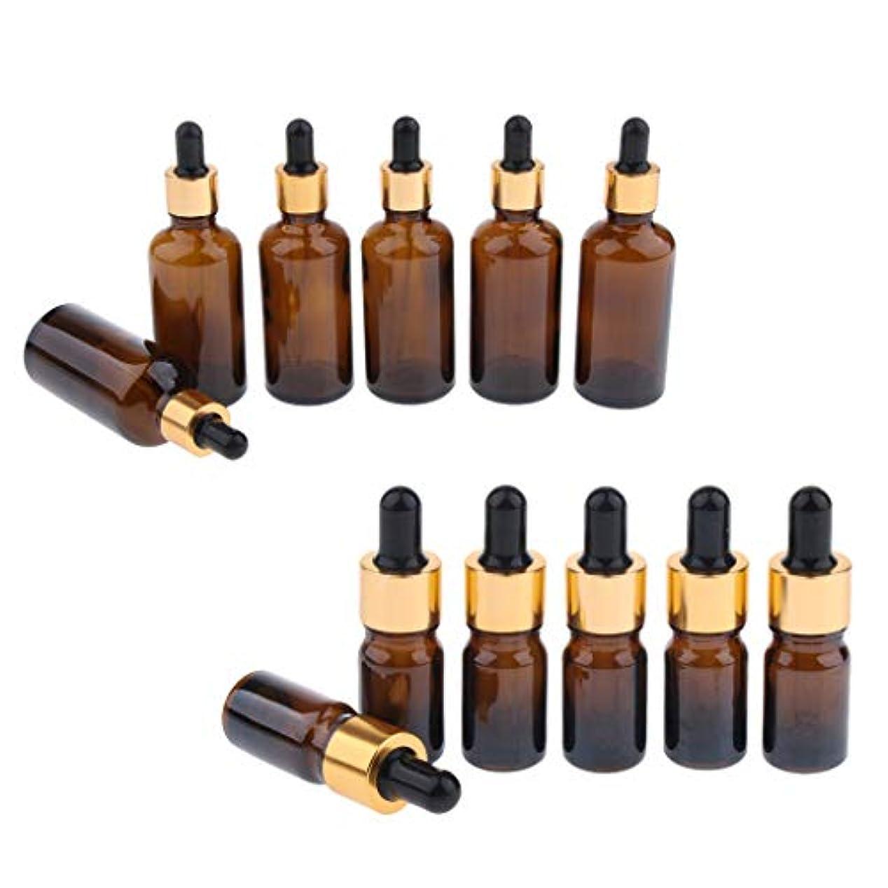 傘比類なきあたりドロッパーボトル エッセンシャルオイル 化粧品 液体 ガラス瓶 詰め替え可 スポイトボトル 12個入