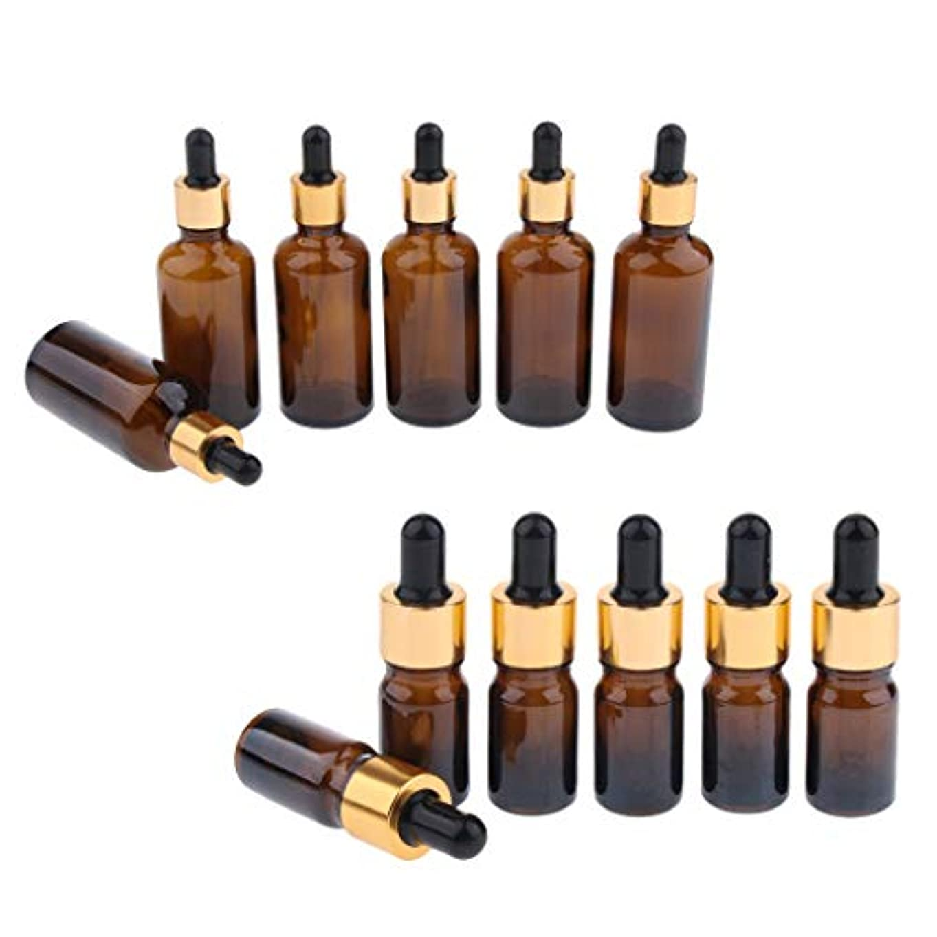 産地化粧うんドロッパーボトル エッセンシャルオイル 化粧品 液体 ガラス瓶 詰め替え可 スポイトボトル 12個入