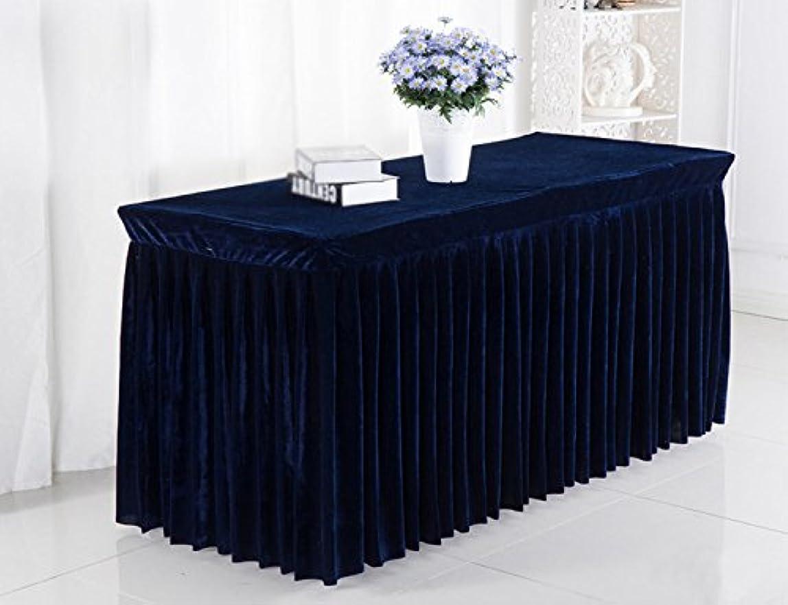 ゼロ医薬品者EGROON ホテル 展覧会 ウェディング テーブルスカート テーブルクロス 長方形 テーブルカバー テーブルマット 簡約 ネイビー