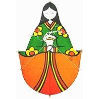 日本製 民芸品 和凧 北九州市 戸畑 孫次凧 ひな祭り お雛様 女雛 凧 (小)