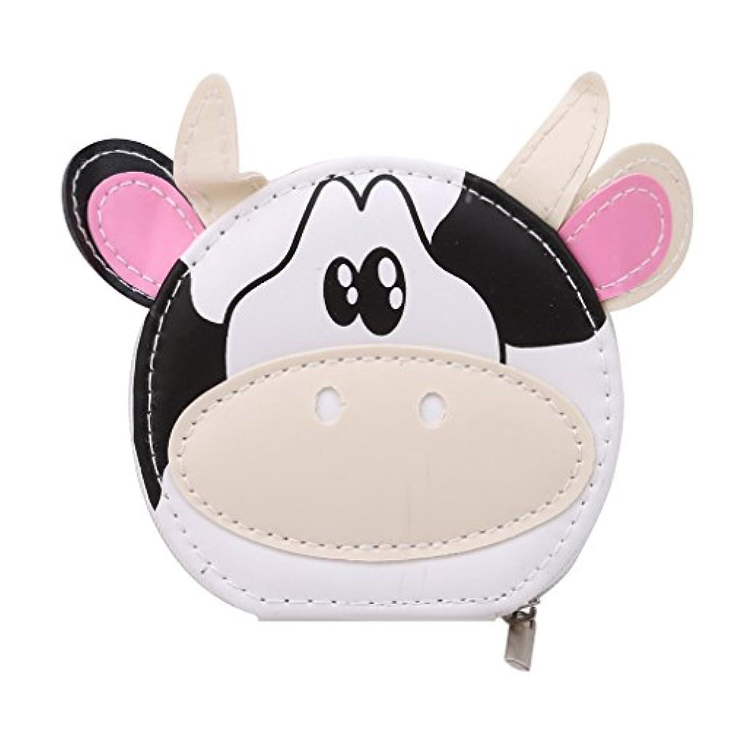 YUEHAO ネイルケア セット 爪切りセット携帯便利のグルーミング キット ステンレス製 つめきり 8点セット かわいい ホワイト乳牛