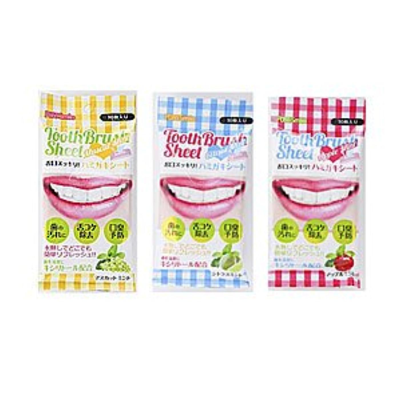 スリッパ果てしないロードされたピュアスマイル 歯磨きシート 全3種類 (アップルミント)