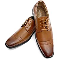 Easy Strider Night Owl Men's Dress Shoes | Lace-Up Oxfords Dress Shoe for Men | Flexible & Comfortable with Stylish Tapered Toe Design | Trendy Balmoral for The Office or Casual Wear Big and Tall